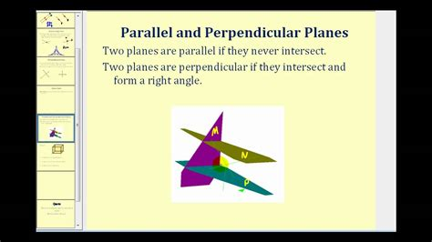 Parallel and Perpendicular Lines and Planes - YouTube