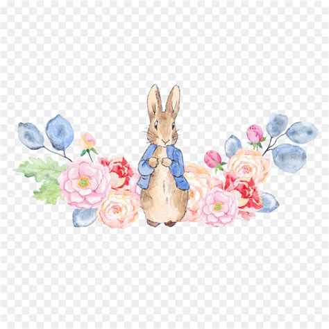 The Tale of Peter Rabbit Clip art - Rabbit and flowers