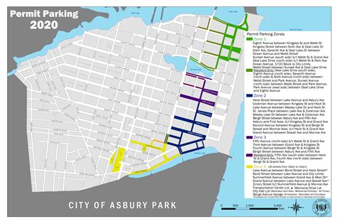Jersey City Parking Permit Zone Map