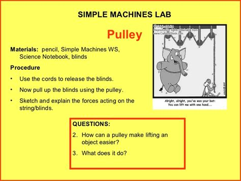Physics1b experiments: Simple Machines- Detailed lab