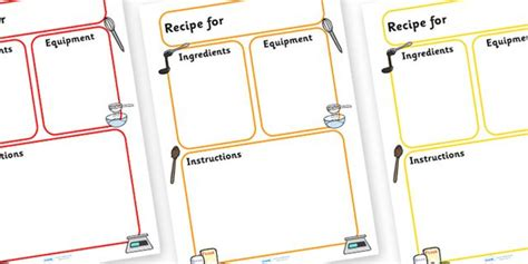 Twinkl Resources >> Recipe Template >> Thousands of