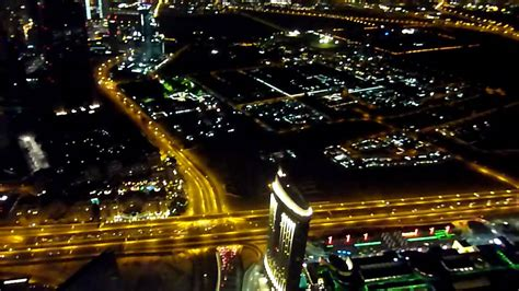 124th floor - night view from the top of Burj Khalifa