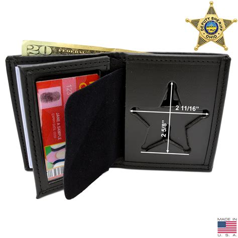Ohio Sheriff Badge Wallet | 5 Point Star Badge Wallet