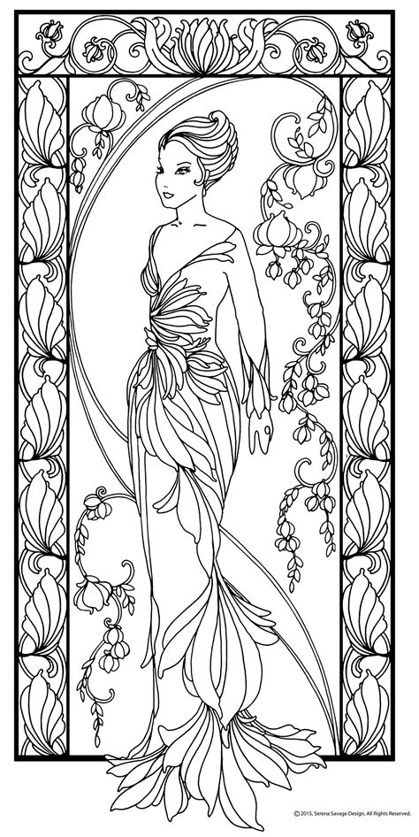Las Serenas Coloring Book on Behance | Abstract coloring