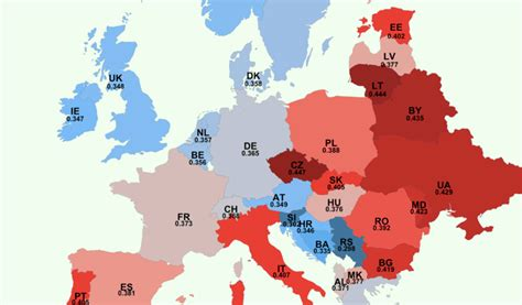 A new study shows that every European country has negative