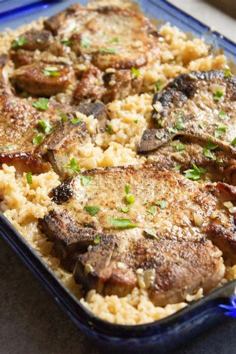 Baked Pork Chops and Rice - Coco and Ash