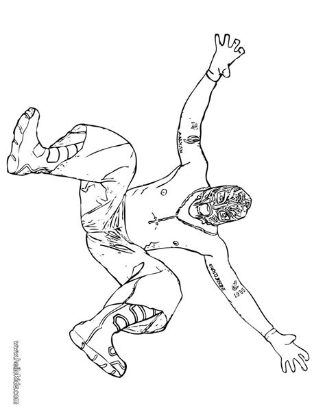Wrestler rey mysterio coloring pages - Hellokids