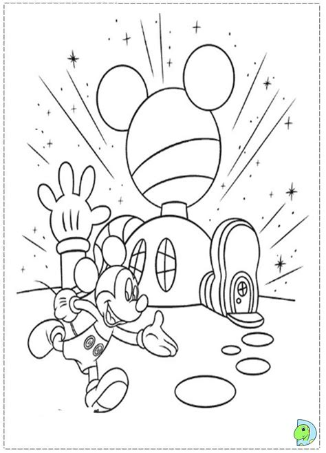 Mickey mouse clubhouse coloring pages to download and
