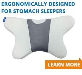Sleep on Your Stomach with Contour Living's New Pillow